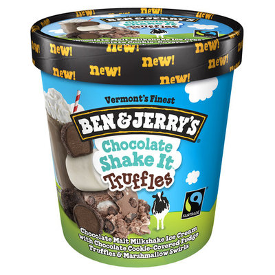 Ben & Jerry's Ice Cream Chocolate Shake It Truffles 16 oz