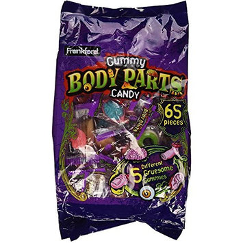 Frankford Gummy Body Parts Candy 65 Pieces Halloween Individually Wrapped (17.2 oz)