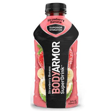 Body Armor Strawberry Banana Sports Drink 28 oz Plastic Bottles - Pack of 12