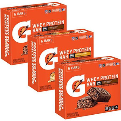 Gatorade® Whey Protein Recover Bars, Variety Pack