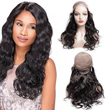 VIPbeauty Body Wave Lace Front Wigs Human Hair 130% Density Natural Hairline Brazilian Virgin Human Hair Lace Front Wig With Baby Hair for Black Women Bleached Knots with Adjustable Straps