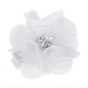 WuyiMC Baby Girl Chiffon Flowers Lined Hair Bows Clips for Teens Girls Babies Toddlers 8 Colors