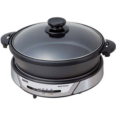 Sanyo HPSMC3 3in1 Versatile Cooker for Grilling Griddling Steaming and SlowCooking