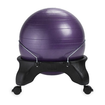 Gaiam Backless Classic Balance Ball Chair, Purple