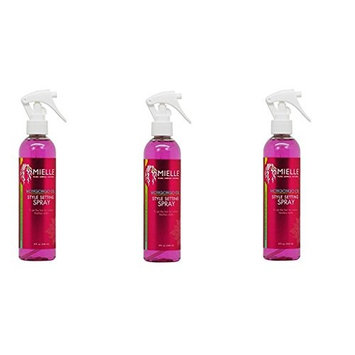 [ VALUE PACK OF 3] Mielle Organics Mongongo Oil Style Setting Spray 8oz : Beauty