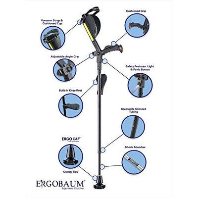 Generation Ergobaum Ergonomic Crutch/ Cane (Single Unit) Single Unit Ergobaum That Acts As a Extra Balance Strong Performance Cane.