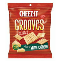 CHEEZ-IT GROOVES SHARP WHITE CHEDDAR 3.25 oz Each ( 6 in a Pack )