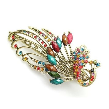 Lovely Vintage Jewelry Crystal Peacock Hair Clips Hairpins C- for hair clip Beauty Tools
