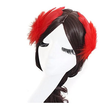 2PCS Girls Heart-shaped Feather Hair Clip Headpiece Party Hairpins Hair Barrettes Hair Accessory Bridal Wedding Feather Fascinator