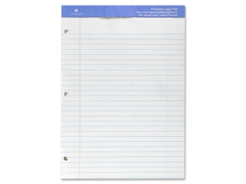 Sparco Products Perforated Legal Pad, 3 HP, 50 Sheets, 8-1/2