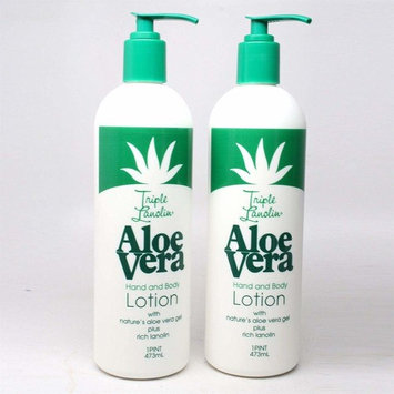 TRIPLE LANOLIN Aloe Vera Hand & Body Lotion 16 oz, 2 pcs