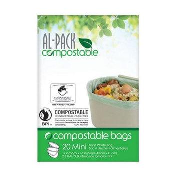 Al-Pack 3 gal 20PK Kitchen Trash Bag (P-RGBC1716COMP)