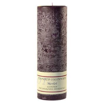 Usc 3 Pcs, Textured 3x9 Merlot Pillar Candles 3 in. diameterx9.25 in. tall (Pack of 3)