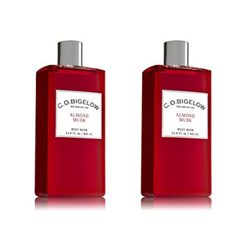 Set of 2 C.O. Bigelow Almond Musk Body Wash 11.6 Ounce (345 milliliter) Each
