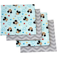 Desigual Disney Let's Go Mickey Mouse Flannel Blanket, 4-Pack