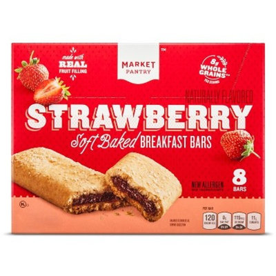 Strawberry Cereal Bars 8ct - Market Pantry™