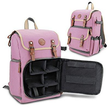 GOgroove Bags and Cases Camera Backpack GGBCCBM100PKEW Pink Case