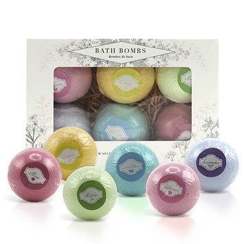 Large Bath Bombs Set of 6 | Rose, Coconut, Matcha, Ginger, Hibiscus, Lavender Bath Bombs | Detox Bath Bombs for Women from BeautyFrizz | Luxury Bathbomb for Custom Baths | Fancy Bath Bombs Gift Set