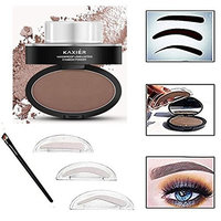 Taipo 3 Stencils Waterproof Eye Brow Stamp Perfect Eyebrow Power Seal Nature Delicate Shape Makeup Fashion Unique Brow Powder for Eyebrows Beginners Busy People