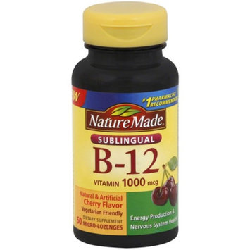 Nature Made B-12 1000 mcg Micro-Lozenges Cherry Flavor 50 ea
