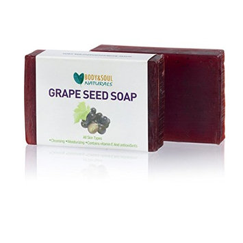 Grape Seed Natural Soap (Made with 100% Pure Essential Oils) 3.5 oz (Pack of 2)