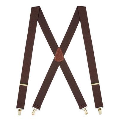 Suspender Store Brass Clip Suspenders - 1.5 Inch Wide Blue