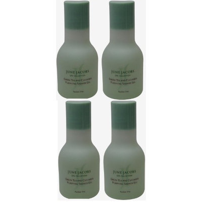 June Jacobs Green Tea Purifying Shower Gel Lot of 1.7oz. (Pack of 4)