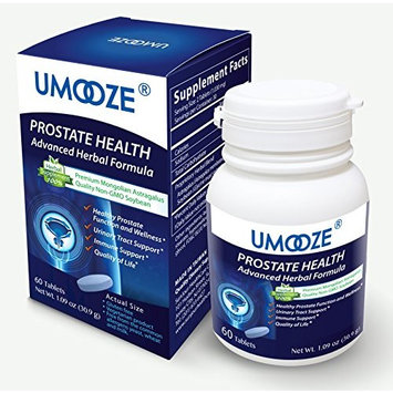 UMOOZE Tablets Concerned About Bph Astragalus and Soybean Extracts to Promote a Healthy Prostate, Reduce Urination Frequency, May Help Naturally with The Symptoms, 500mg