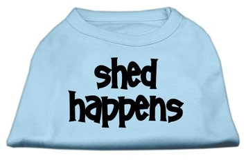 Mirage Pet Products 5149 XSBBL Shed Happens Screen Print Shirt Baby Blue XS 8