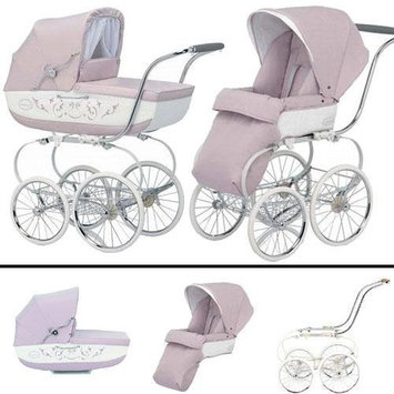 Inglesina SYSTM12PES Classica Pram and Seat with Raincover - Pesca Pink White