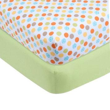 Mount Vernon Mills Inc. Garanimals Cotton Crib Sheets, Set of 2