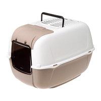 Ferplast Prima Cabrio Opening Front Hatch Cat Home Toilette Dove Grey