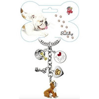 Little Gifts Bulldog Enamel Key Chain