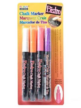 Marvy Uchida Bistro Chalk Marker Sets fine point, white, fl. violet, fl. orange, fl. red [pack of 2]