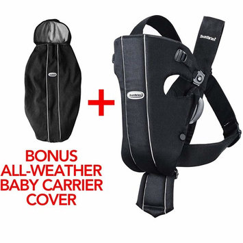 BabyBjorn Original Cotton Baby Carrier Black and Cover for Baby Carrier Black