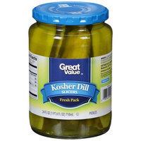 Pinnacle Foods Group, Llc Great Value Kosher Dill Slicers, 24 fl oz