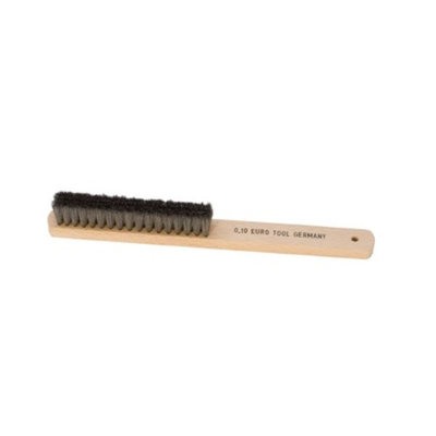Eurotool Wood Handle Metal Brushes, Steel