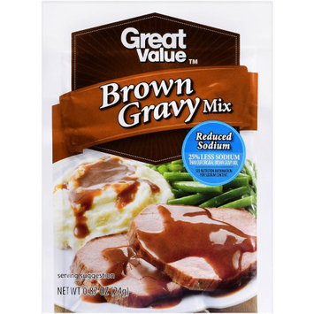 Wal-mart Stores, Inc. Great Value Reduced Sodium Brown Gravy, 0.87 oz