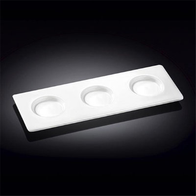Wilmax 992591 10 x 3.5 in. Tray White - Pack of 48