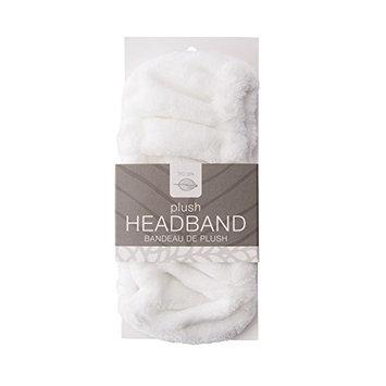 Tru Spa Plush Facial Headband, Perfect for Bath, Makeup, and Spa