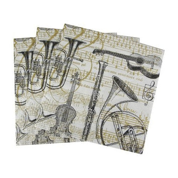 Paperproducts Design 6680 Concerto Paper Beverage/Cocktail Napkin, 5 by 5-Inch