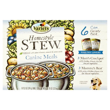 Variety Pet Food VARIETY Homestyle 'STEW' Poultry Lovers Natural Dog Food Variety, 13.2 oz Cans, 6pk