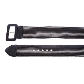 Armani Collezioni Women's Striped Leather Belt