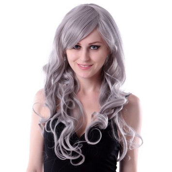 HDE Womens Long Wavy Wig Curly Glamour Hair Style for Halloween Cosplay Costumes