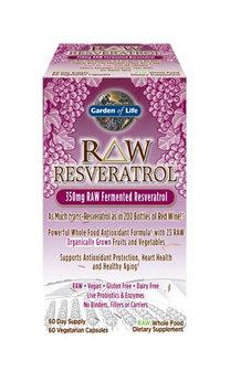 Garden of Life RAW Resveratrol 350 mg - 60 Vegetarian Capsules