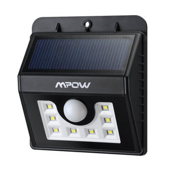 Mpow Super Bright 8 LED Solar Powered Wireless Security Light Weatherproof Outdoor Motion Sensor Lighting with 3 Intelligent Modes for outdoors