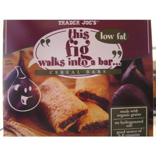 Trader Joe's Fig Cereal Bars 6 Bars/box (6 Pack)
