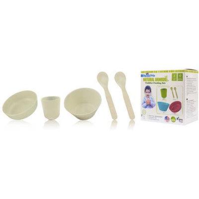 Pacific Baby 613 Bamboo Toddler Feeding Set Cream