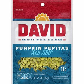DAVID Sea Salt Pumpkin Pepitas Seeds 5-oz. Resealable Bag