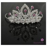 PRINCESS Wedding Flower Girl Crystal Crown Tiara T6